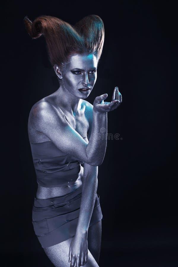 Mujer joven hermosa con cuerpo-arte asombroso imágenes de archivo libres de regalías