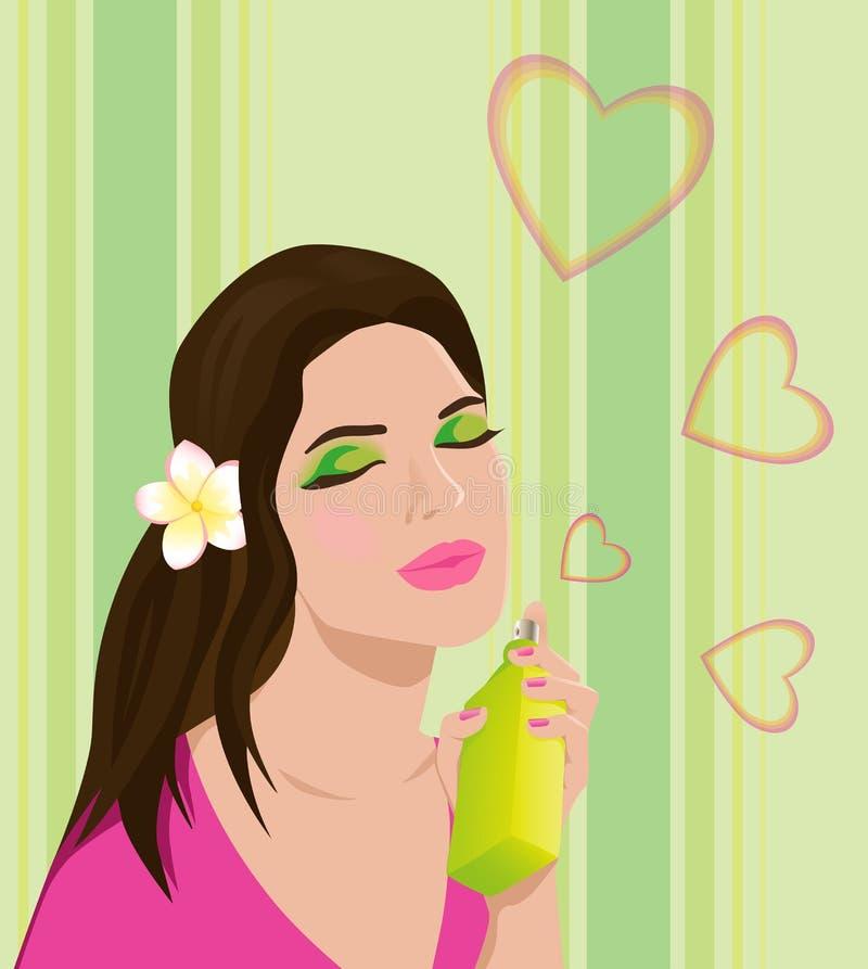 Mujer joven hermosa con perfume foto de archivo libre de regalías