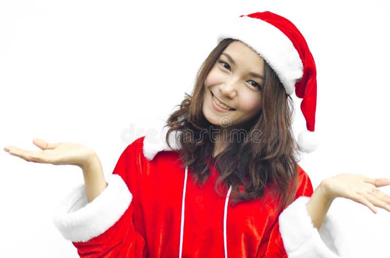 Mujer joven hermosa de Papá Noel, fotografía de archivo