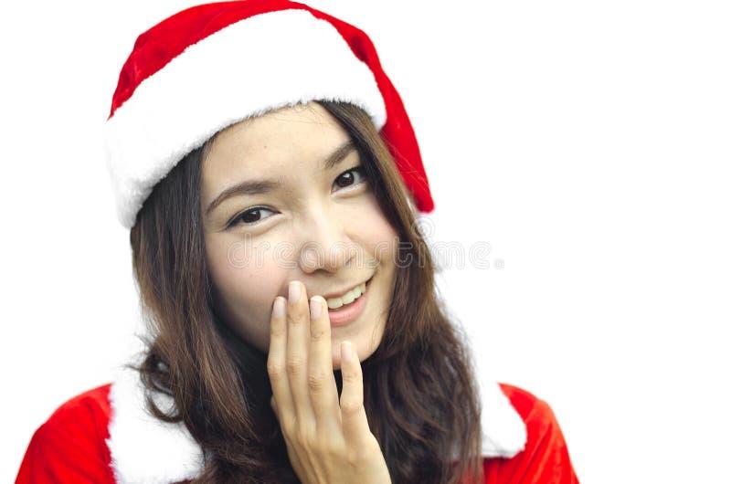 Mujer joven hermosa de Papá Noel, foto de archivo libre de regalías