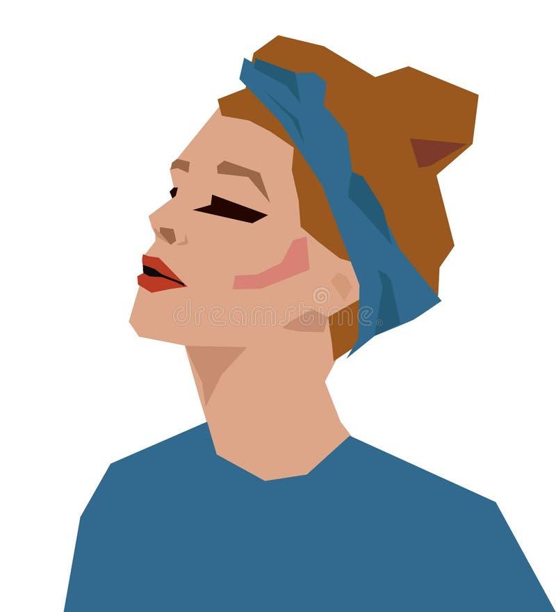 Mujer joven hermosa del retrato libre illustration