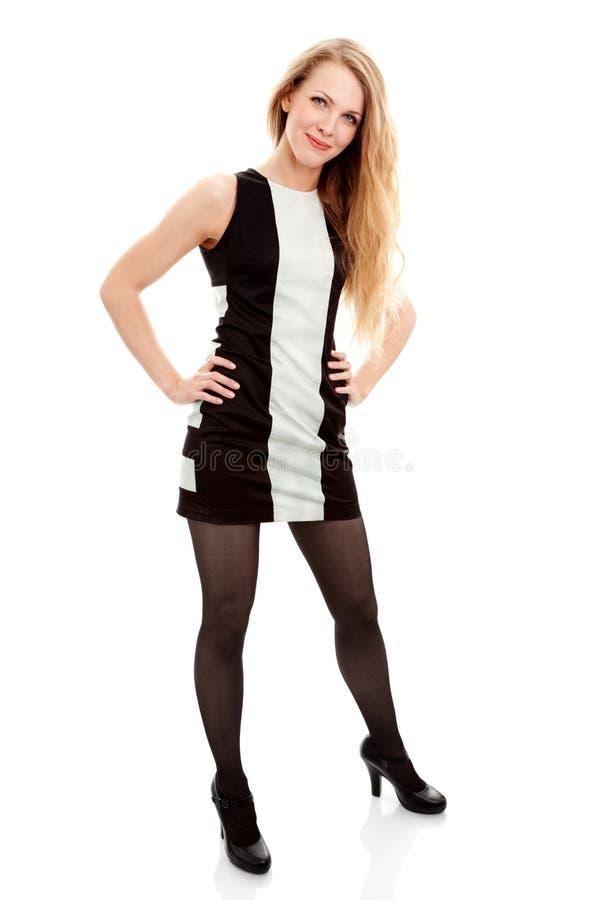 Mujer joven hermosa en vestido fotos de archivo