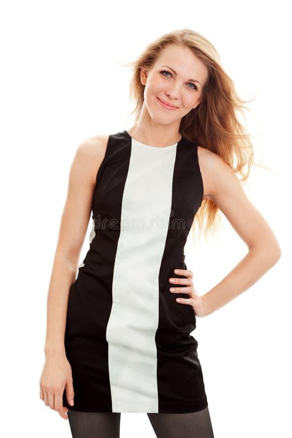 Mujer joven hermosa en vestido foto de archivo
