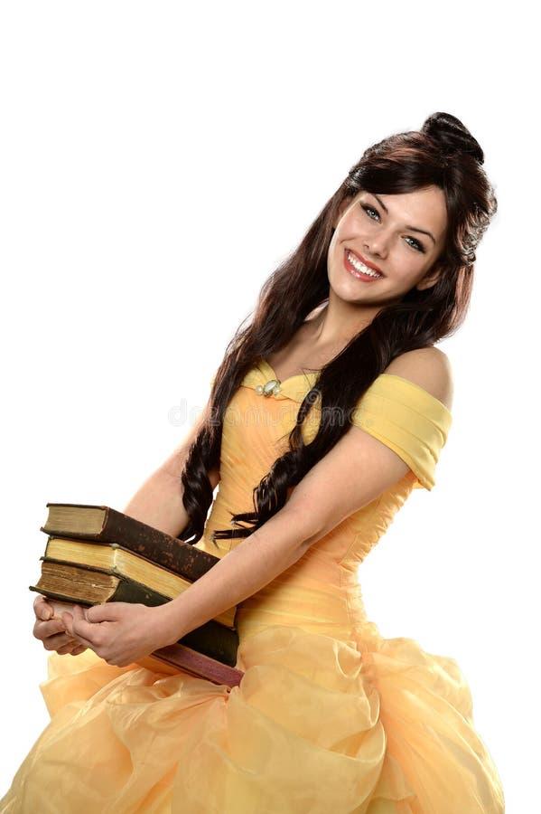 Mujer joven hermosa vestida en princesa Dress fotos de archivo libres de regalías
