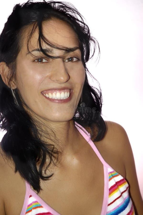 Mujer joven latina de la belleza fotos de archivo