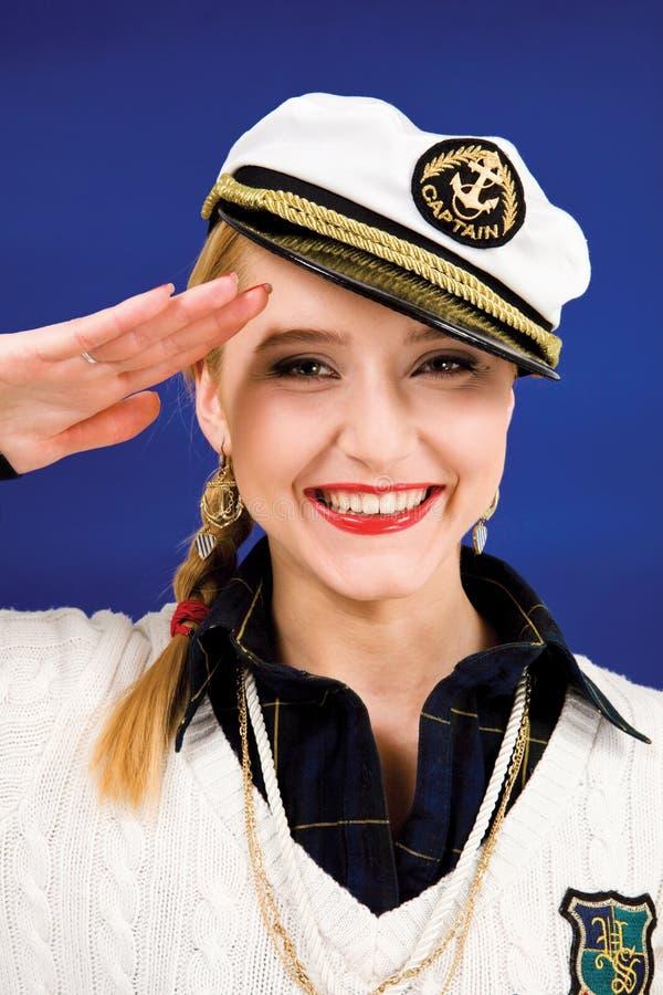 Mujer joven rubia sonriente fotos de archivo