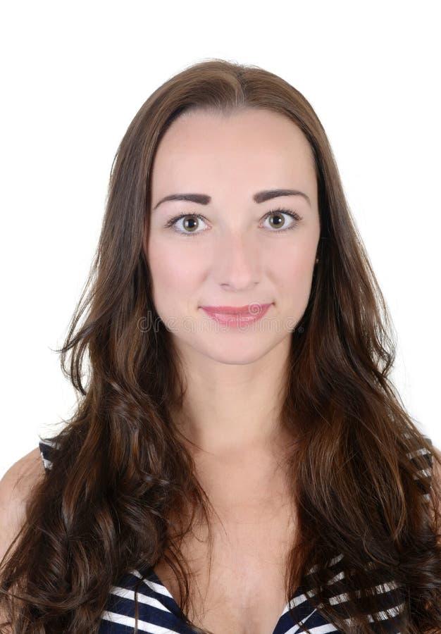 Download Mujer joven sonriente foto de archivo. Imagen de pasaporte - 44856478