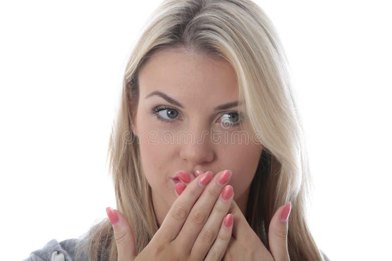 Mujer joven sorprendida imagen de archivo