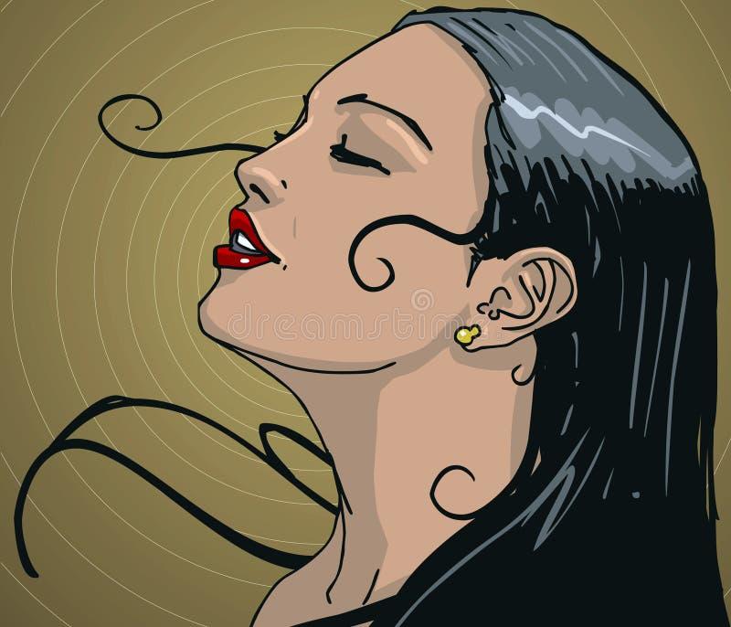 Mujer latina stock de ilustración