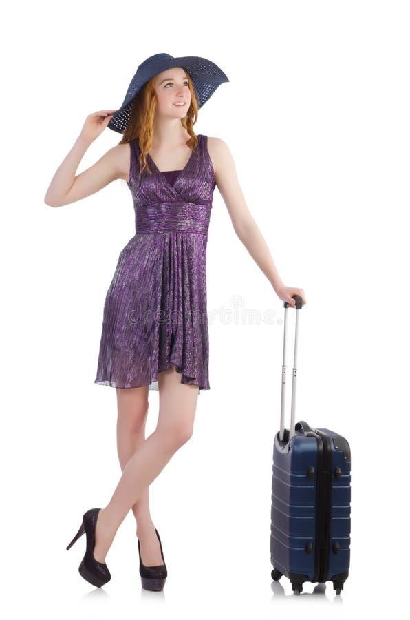 Download Mujer Lista Para Las Vacaciones De Verano Aisladas Imagen de archivo - Imagen de equipaje, hermoso: 41913865
