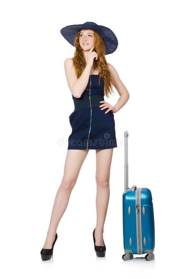 Download Mujer Lista Para Las Vacaciones De Verano Aisladas Foto de archivo - Imagen de bolso, diversión: 41914102