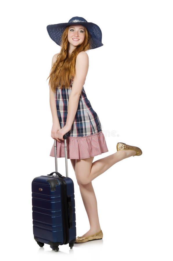 Download Mujer Lista Para Las Vacaciones De Verano Aisladas Imagen de archivo - Imagen de mochila, equipaje: 41917237