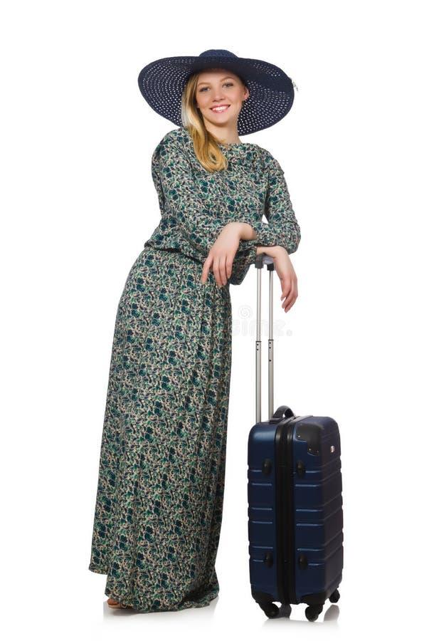Download Mujer Lista Para Las Vacaciones De Verano Aisladas Foto de archivo - Imagen de sombrero, mochila: 41917950