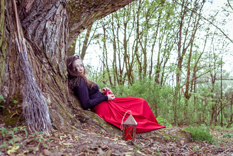 Mujer mística de la bruja fotografía de archivo