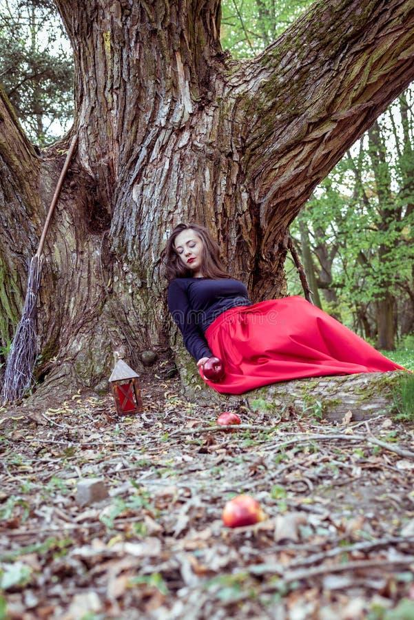 Mujer mística de la bruja foto de archivo