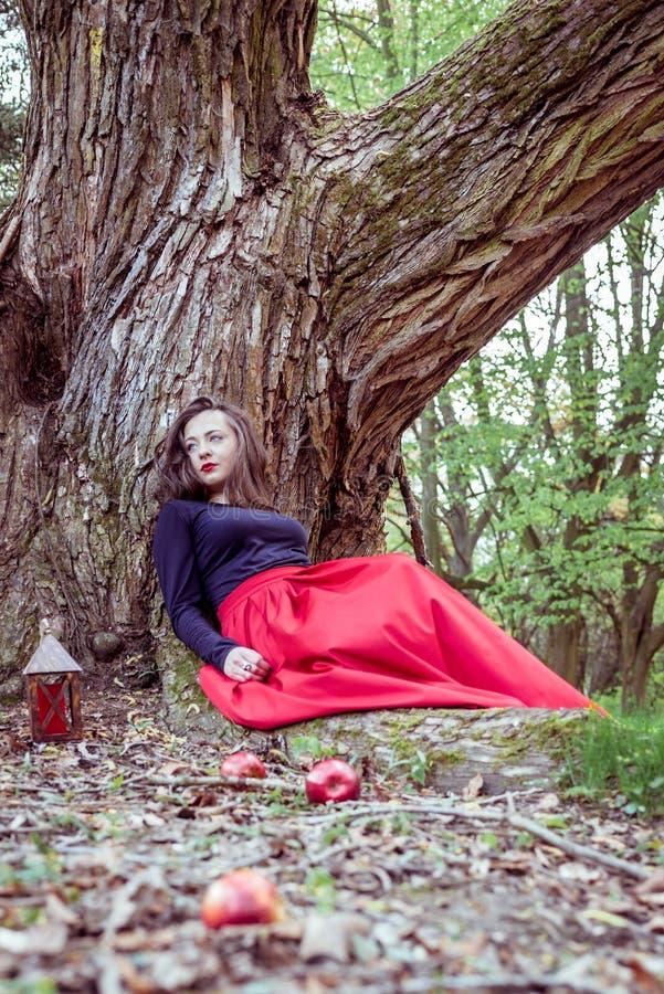Mujer mística de la bruja foto de archivo libre de regalías