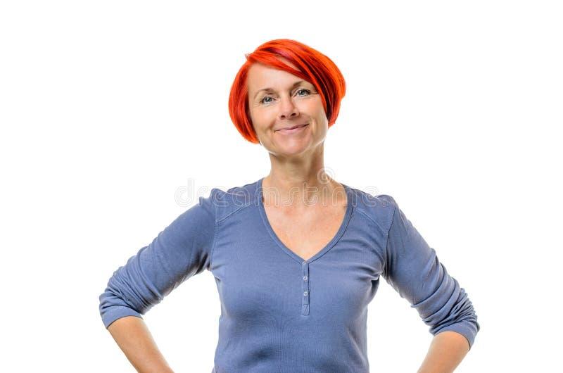 Perfecto mujer madura cabello rojo
