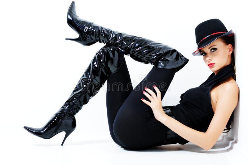 Mujer magnífica de moda imagen de archivo libre de regalías