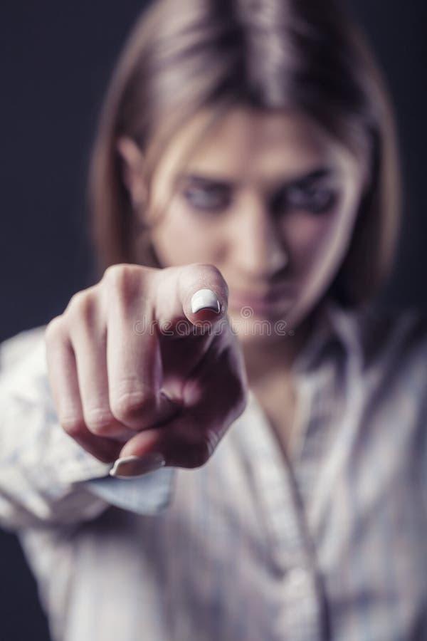 Mujer malvada imagen de archivo libre de regalías