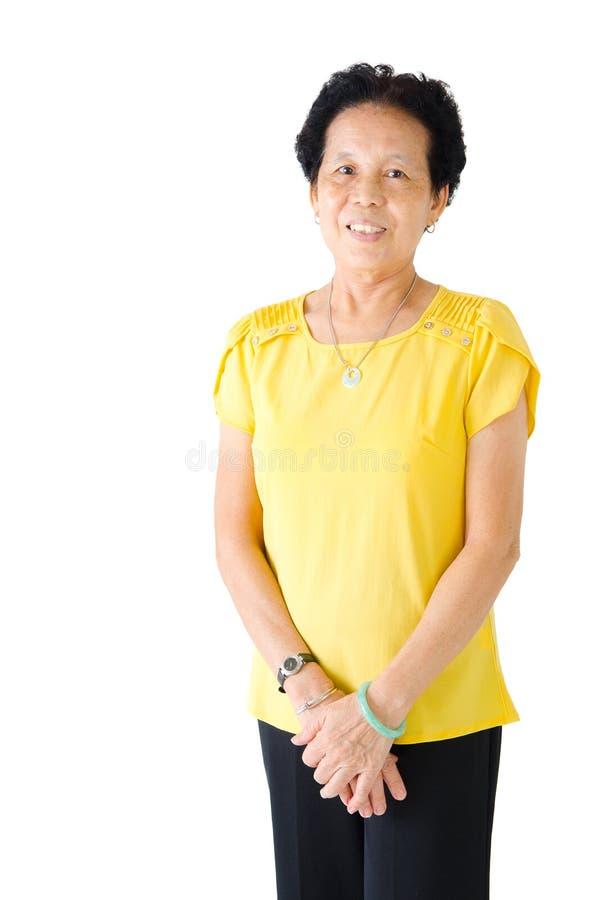 Mujer mayor asiática fotografía de archivo libre de regalías