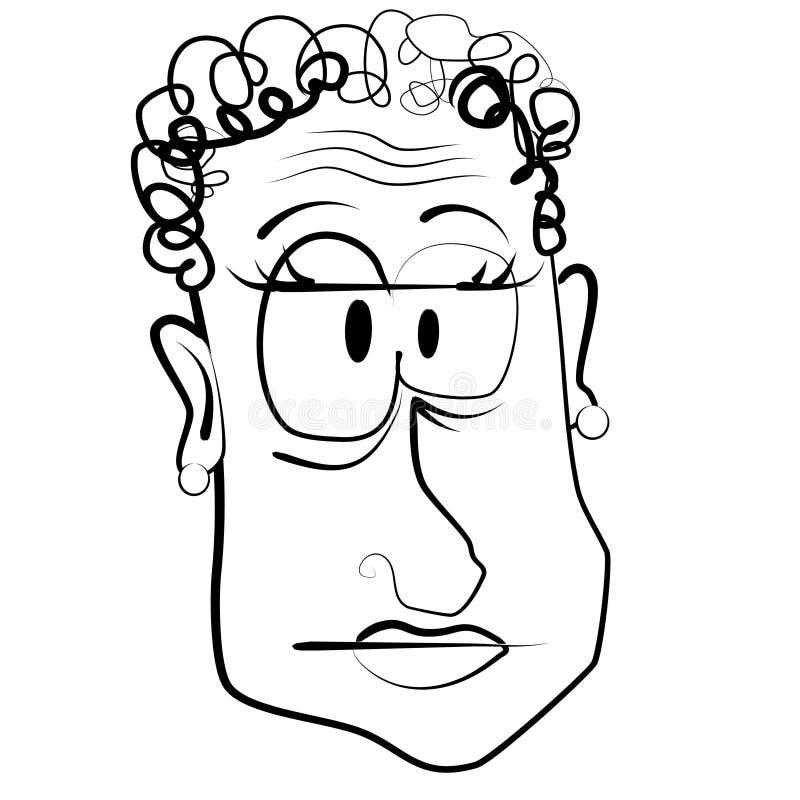 Mujer mayor de la caricatura de la historieta libre illustration