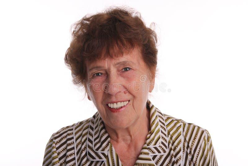 Mujer mayor de la felicidad fotos de archivo libres de regalías