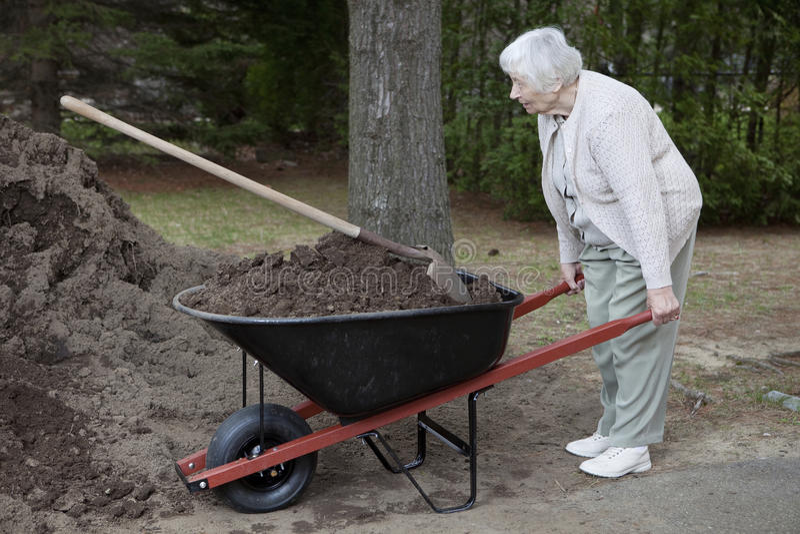 Mujer mayor de trabajo fotografía de archivo