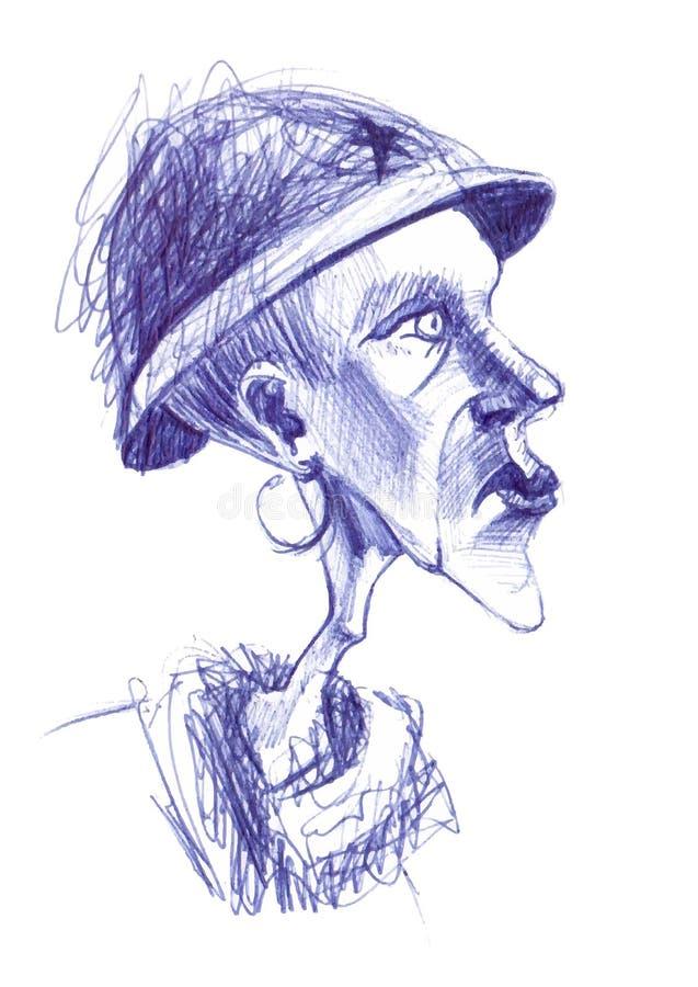 Mujer mayor excéntrica libre illustration
