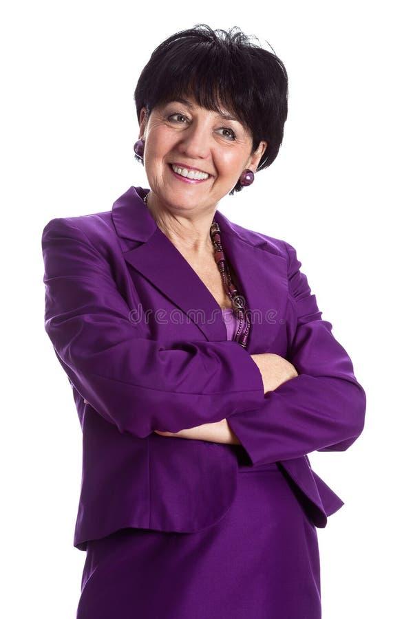 Mujer mayor feliz foto de archivo libre de regalías