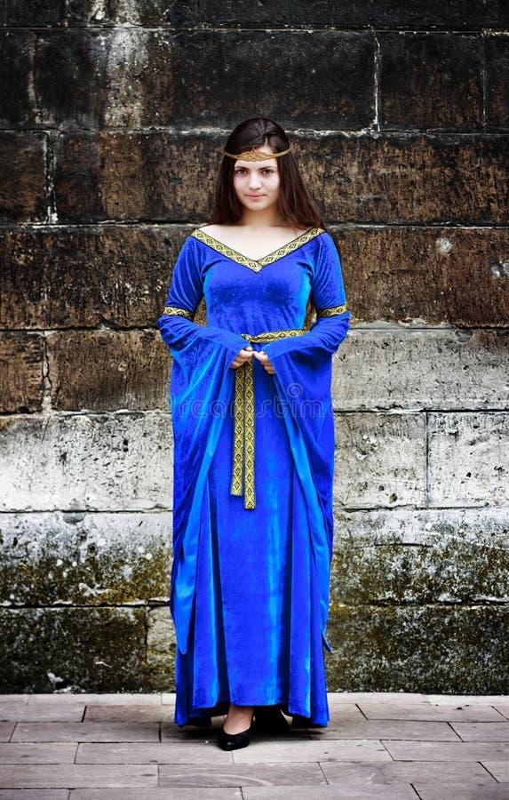 Mujer medieval foto de archivo