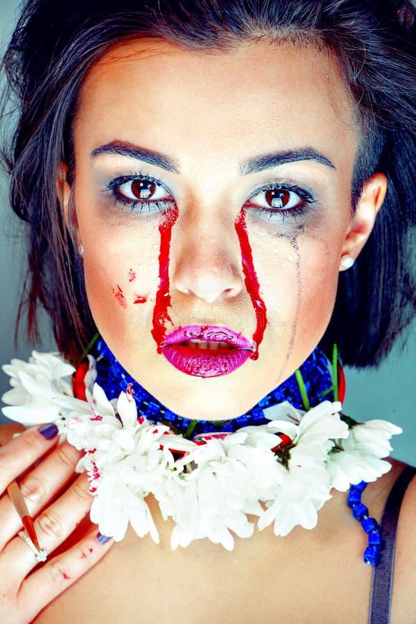 Mujer morena hermosa de la sangría fotos de archivo