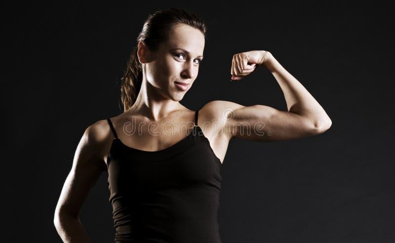 Mujer muscular imagenes de archivo