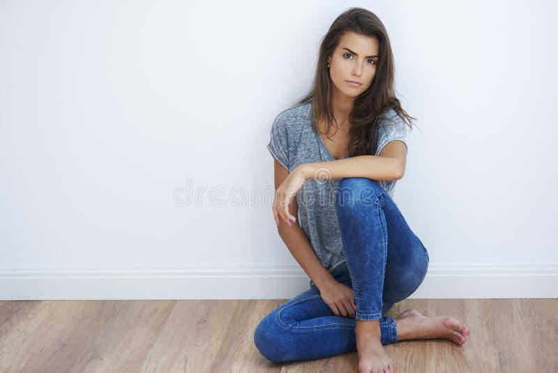 Mujer natural foto de archivo libre de regalías