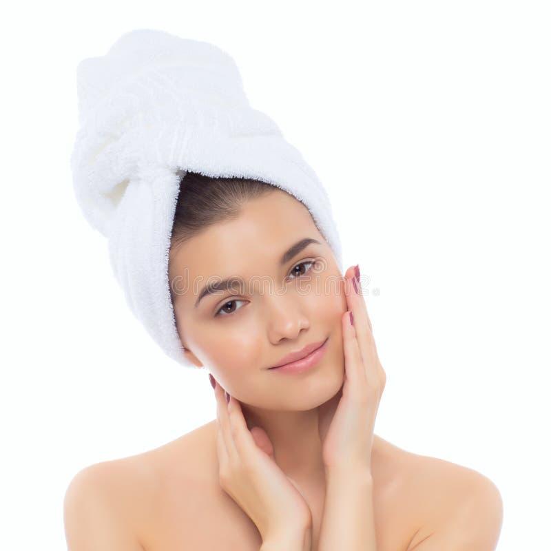 Mujer natural hermosa después de procedimientos cosméticos, cirugía estética de la muchacha fotografía de archivo libre de regalías