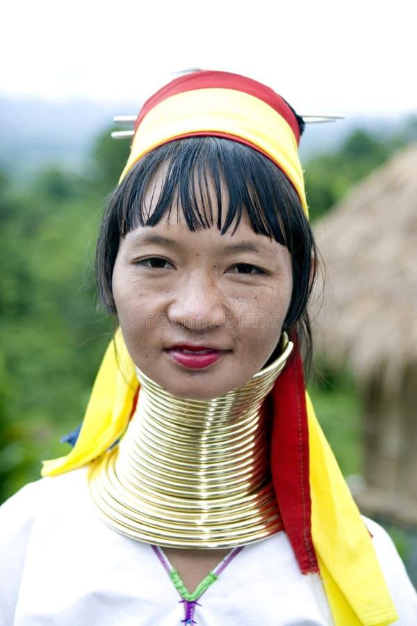 Mujer necked larga, Asia imagen de archivo libre de regalías