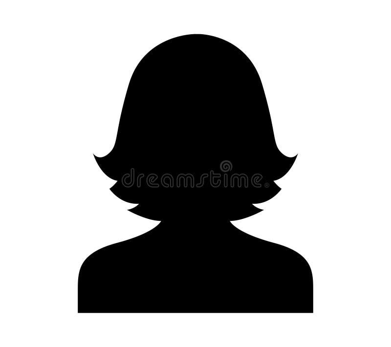 Mujer negra Avatar stock de ilustración