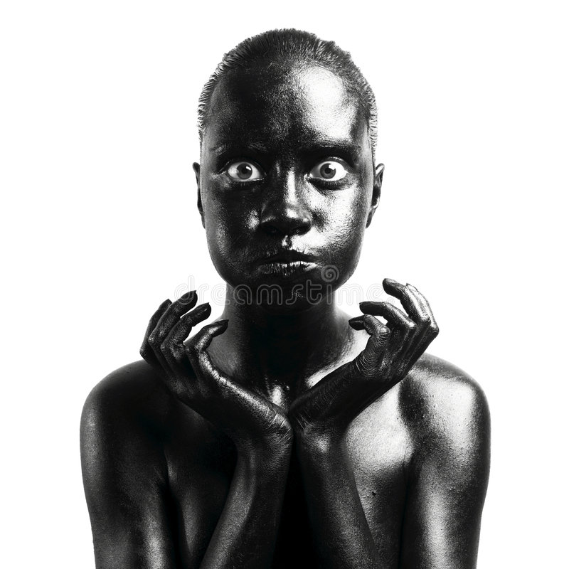 Mujer negra compuesta foto de archivo