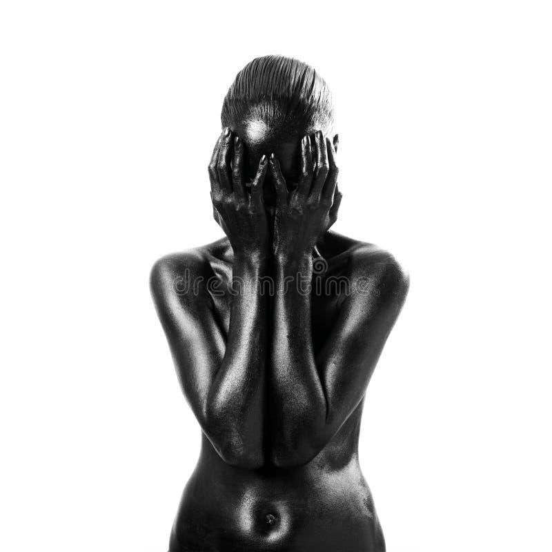 Mujer negra compuesta imagen de archivo libre de regalías