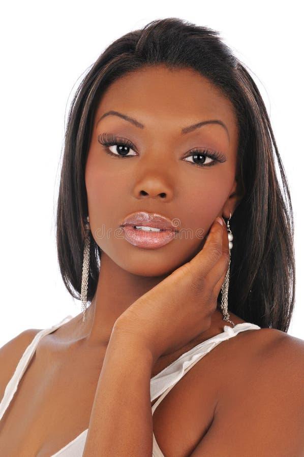 Mujer negra de la manera imagenes de archivo