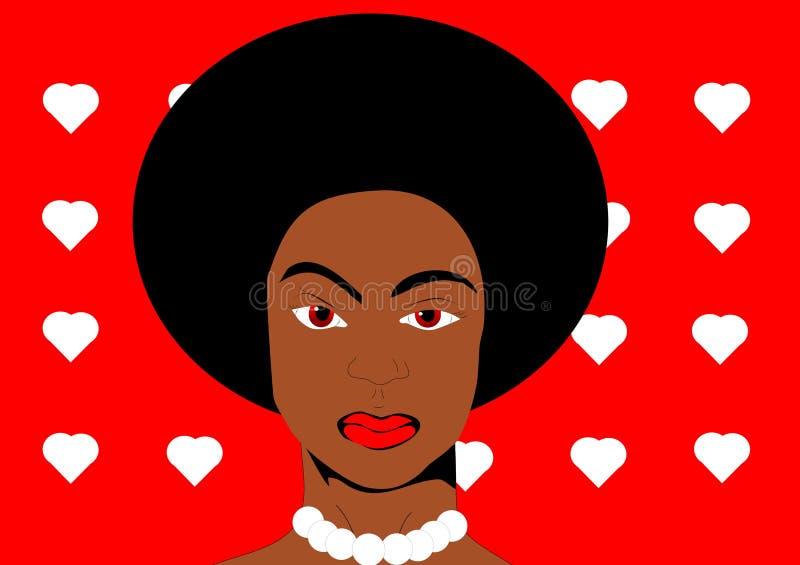 Download Mujer negra del arte pop stock de ilustración. Ilustración de afro - 41901972
