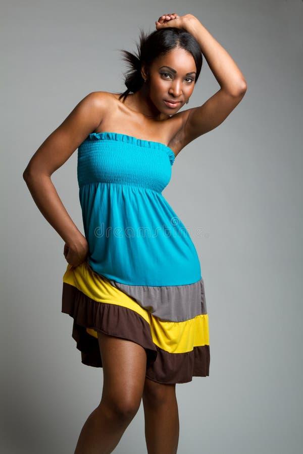 Mujer negra hermosa fotos de archivo libres de regalías