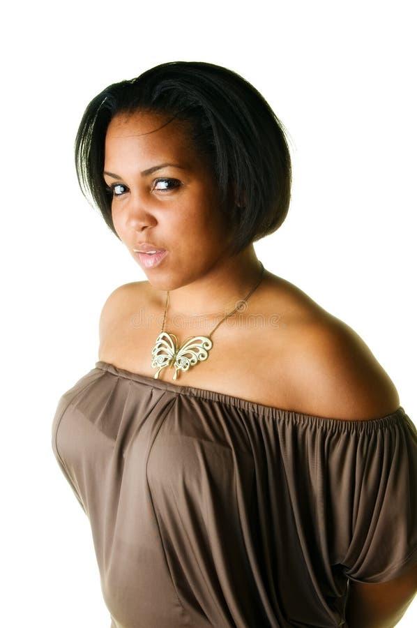 Mujer negra joven foto de archivo
