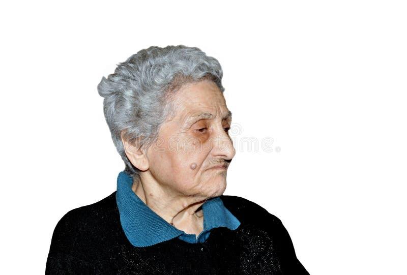 Mujer nonagenaria fotografía de archivo libre de regalías