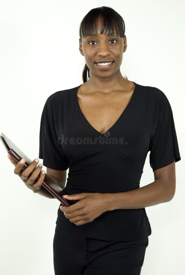 Mujer o estudiante de negocios del afroamericano foto de archivo libre de regalías