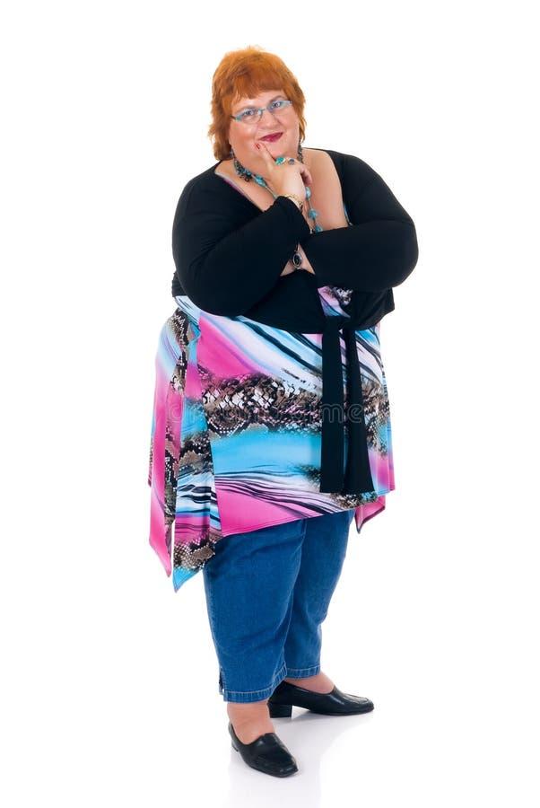 Download Mujer obesa foto de archivo. Imagen de salud, blanco, envejecido - 6607328