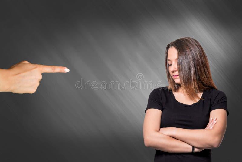 Mujer ofendida foto de archivo