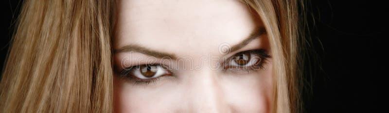 Mujer parcial face-2 fotos de archivo