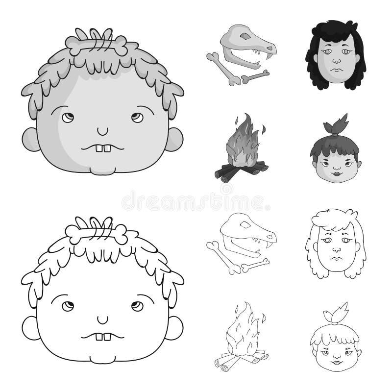 Mujer, pelo, cara, hoguera E libre illustration