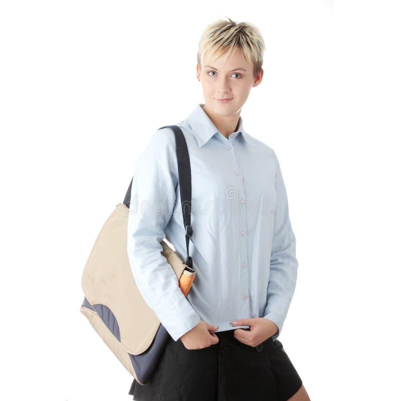 Mujer punky joven del estudiante imagen de archivo libre de regalías