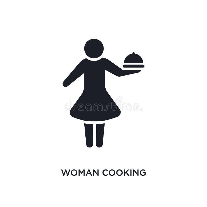 mujer que cocina el icono aislado ejemplo simple del elemento de iconos del concepto de los seres humanos mujer que cocina diseño libre illustration